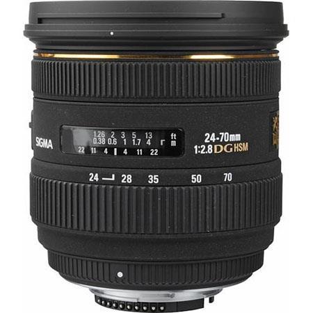 Sigma 24-70mm f/2.8 EX Aspherical IF EX DG HSM AutoFocus Zoom Lens for Digital SLR's - USA Warranty