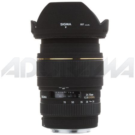 Sigma 24-70mm f/2.8 EX Aspherical DG DF AutoFocus Standard Zoom Lens with Hood for Canon EOS Cameras image