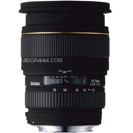 Sigma 24-70mm f/2.8 EX Aspherical DG DF AutoFocus Standard Zoom Lens with Hood for Nikon AF Cameras image
