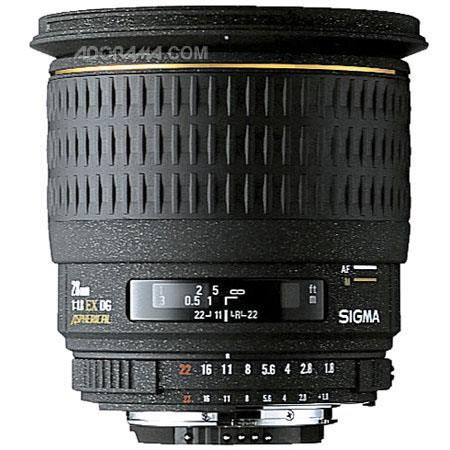 Sigma 28mm f/1.8 EX DG Aspherical Macro AutoFocus Wide Angle Lens with Hood for Nikon AF-D Cameras image