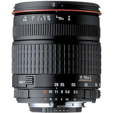 Sigma 28-200mm f/3.5-5.6 DG Compact Aspherical Hyperzoom AutoFocus Macro Lens with Hood for Canon EOS Cameras image