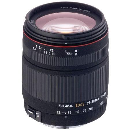 Sigma 28-300mm f/3.5-6.3 DG Macro Auto Focus Wide Angle Telephoto Macro Zoom Lens for Canon EOS image