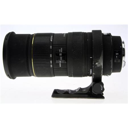 Sigma 50-500mm f/4-6.3 EX DG APO HSM Telephoto Zoom Lens with Hood for Nikon AF D Cameras. image