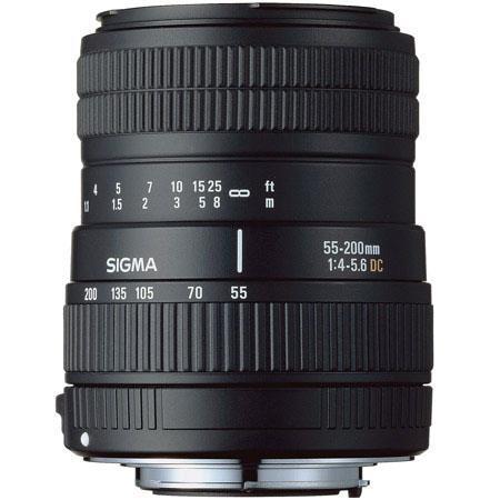 Sigma 55mm - 200mm f/4-5.6 DC Autofocus Zoom Lens for Canon EOS Digital SLR Cameras image