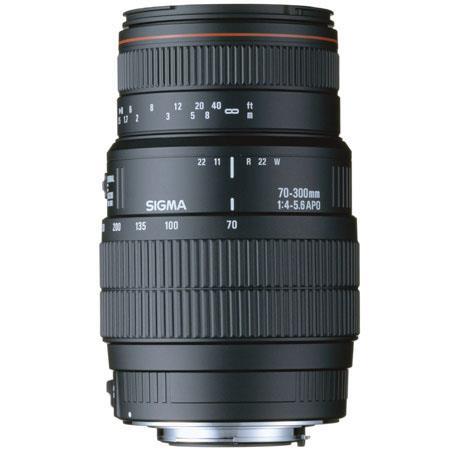 Sigma 70-300mm f/4-5.6 APO DG Macro Telephoto Zoom Lens for Nikon AF D Cameras. image