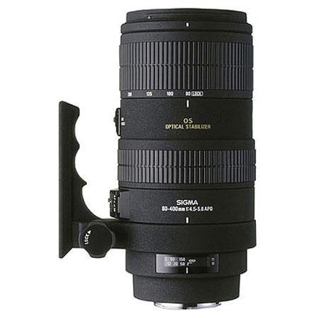 Sigma 80-400mm f/4.5-5.6 EX DG OS (Optical Stabilizer) APO IF Tele Zoom Lens with Hood for Canon EOS. image