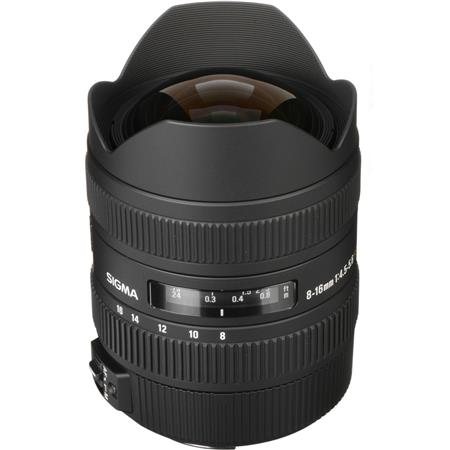 Sigma 8 - 16mm f/4.5-5.6 DC HSM AutoFocus Wide Angle Zoom Lens for Canon EOS Digital SLR Cameras. image