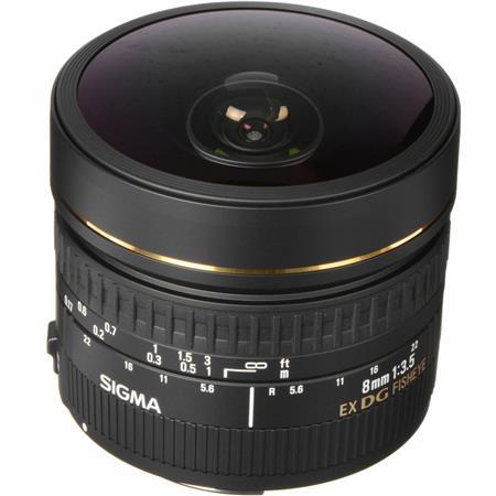 Sigma 8mm f/3.5 EX DG Circular Fisheye Auto Focus Lens for Canon EOS Cameras image