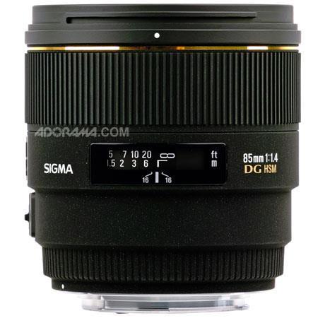 Sigma 85mm f/1.4 EX DG HSM Lens for Nikon AF Cameras image