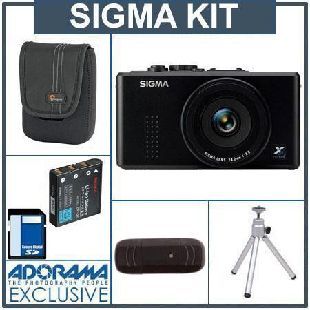 Sigma DP-2S Digital Point and Shoot Camera Kit,with 8GB SD Memory Card, Camera Case, Spare Sigma Li-Ion Battery BP-31,USB 2.0 SD Card Reader, Table Top Tripod,