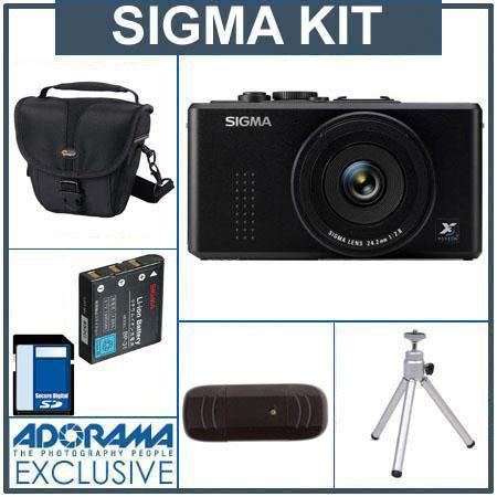 Sigma DP2x Compact Digital Camera, Kit,with 8GB SD Memory Card, Camera Case, Spare Sigma Li-Ion Battery BP-31,USB 2.0 SD Card Reader, Table Top Tripod,