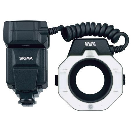 Sigma EM-140 DG Macro Flash for Nikon TTL-BL, i-TTL, D-TTL SLRs, Guide Number of 45 with ISO 100 Feet. image
