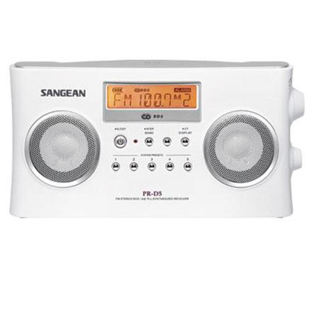 Sangean FM-Stereo RDS (RBDS)/AM Digital Tuning Portable Receiver, White