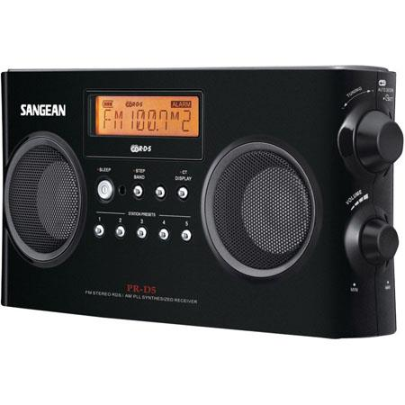 Sangean FM/AM-Stereo RDS (RBDS) Digital Tuning Portable Receiver, Black