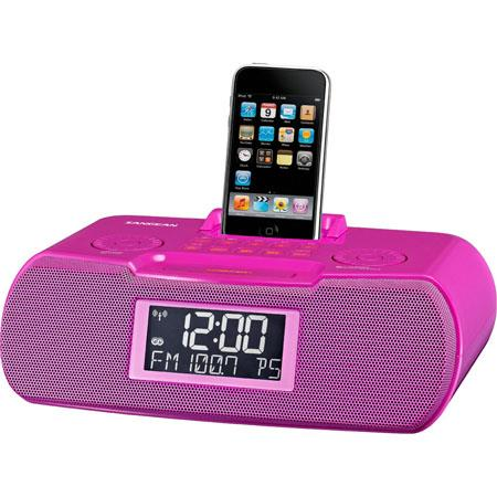 Sangean FM-RDS (RBDS)/AM/Aux-in Digital Tuning Atomic Clock Radio, Compatible with iPod, Pink
