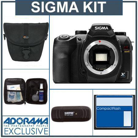 Sigma SD-15 Digital SLR Camera Body Kit, with 8GB SD Memory Card, Camera Case,USB 2.0 Card Reader, Professional Lens Cleaning Kit