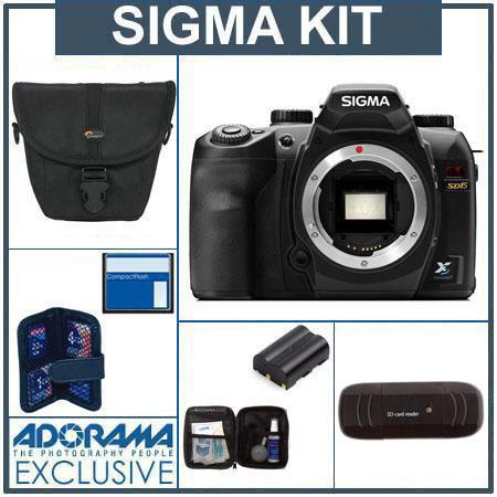 Sigma SD-15 Digital SLR Camera Body Kit, with 8GB SD Memory Card, Spare Sigma BP-21 Lithium-ion Battery. Camera Case,USB 2.0 Card Reader, Professional Lens Clea