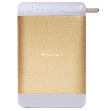 Sanho HyperJuice Plug 18000mAh Dual USB Port Battery Pack for iPad/iPhone/Android/Tablets/Smartphones/USB Device, Gold (Bullion)