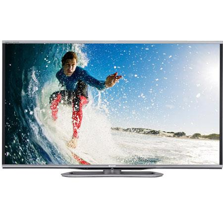 "Sharp Aquos 80"" Class 1080p Full HD 3D LED Smart TV with Quattron Color Technology, 240 Hz Refresh Rate with AquoMotion 960, USB/HDMI, 35W Audio"
