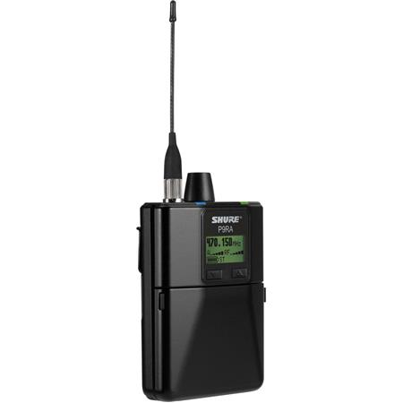 Shure P9RA=-G7 Rechargeable Wireless Bodypack Receiver, G7 Band, 506-542 MHz Frequency Range