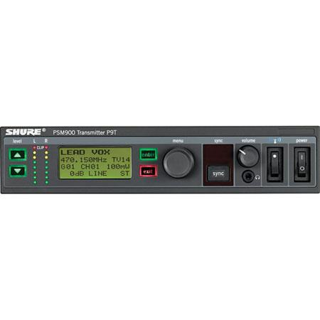 Shure P9T=-G7 Wireless Transmitter for PSM900 Personal Monitor System, G7 Band, 506-542 MHz Frequency Range