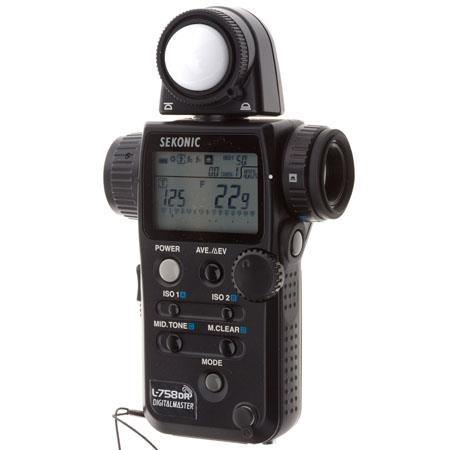 Sekonic L-758DR DigitalMaster, Programmable Digital Flash & Ambient Exposure Meter.