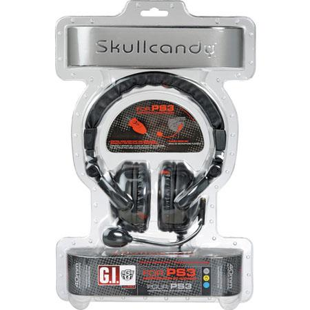 Skullcandy GI PS3 Gaming Headphone with Boom Mic - Black / Red