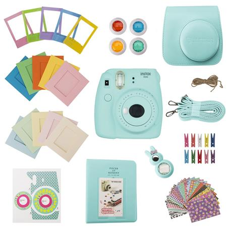 Slinger FujiFilm Instax Mini 9 Accessory Kit - Ice Blue (Camera Not Included)