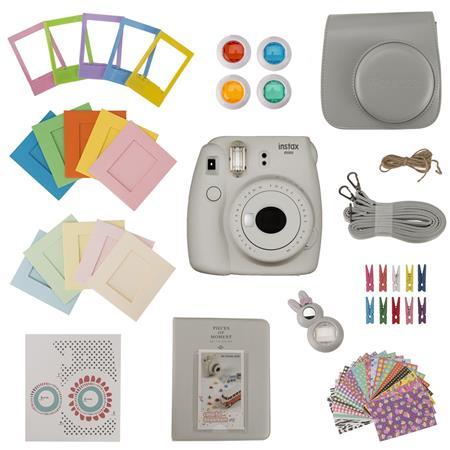 Slinger FujiFilm Instax Mini 9 Accessory Kit - Smoky White (Camera Not Included)