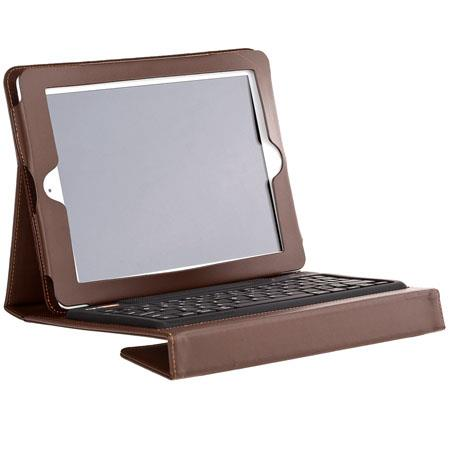 Solid Line RightShift Bluetooth Keyboard & Case for iPad 2/iPad 3 or Any Blue Tooth Enabled Device - French Burgundy (Brown)