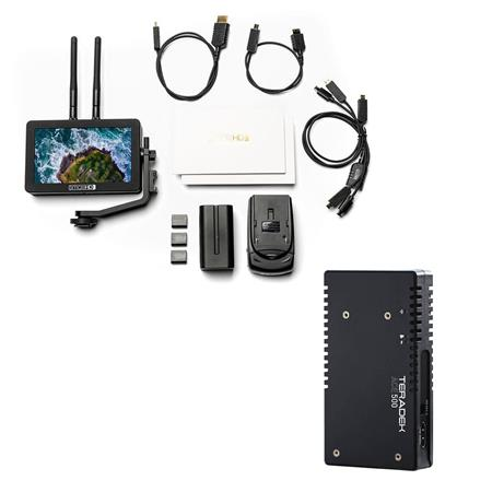 "SmallHD FOCUS 5"" Monitor with Built-In Bolt 500 LT Transmitter, Includes Teradek ACE 500 HDMI Transmitter"