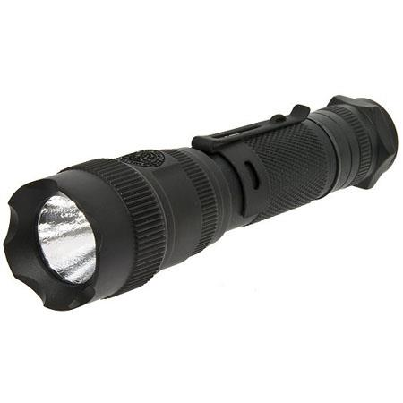 Smith & Wesson Elite CREE LED Flashlight, 120 Lumens on High, 70 Lumens on Low, Matte Black Aluminum.
