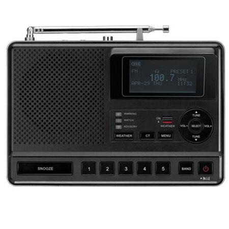 Sangean S.A.M.E. Table-Top Weather Hazard Alert with AM/FM-RBDS Alarm Clock Radio