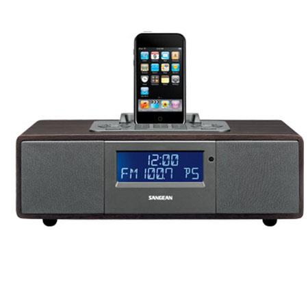 Sangean FM-RDS (RBDS)/AM/Aux-in Tabletop Wooden Cabinet Receiver for iPod
