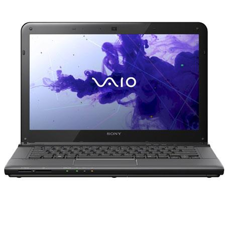 "Sony VAIO E Series 14"" Notebook Computer, Intel Core i3-3120M 2.5GHz, 4GB DDR3 RAM, 500GB HDD, Windows 8 Professional 64-bit, Black"