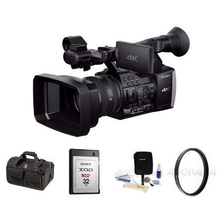 Sony FDR-AX14K Digital 4K Video Camcorder, 20x Optical Zoom, - Bundle With Slinger BIGBAG Video Handbag, XQD 32GB Memory Card N-Series, Cleaning Kit, 72MM UV Filter