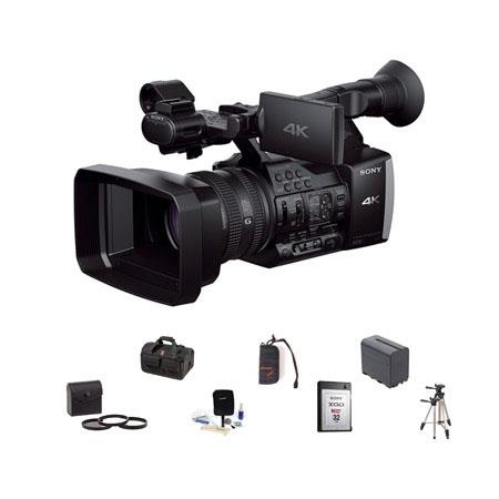 Sony Sony FDR-AX14K Digital 4K Video Camcorder, 20x Optical Zoom, - Bundle With Slinger BIGBAG Video Handbag, Sony XQD 32GB Memory Card N-Series, Cleaning Kit, 72MM Filter Kit, Spare NP-F960 Battery, Sunpack Tripod, Memory Walllet