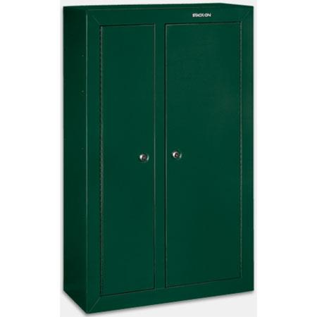 Stack on 10 gun double door steel security cabinet hunter for 10 gun double door steel security cabinet