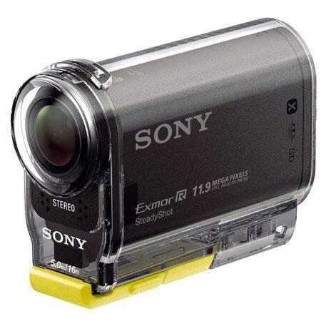 Sony HDR-AS30V HD 1080p POV Action Camcorder, 12MP Still Images, Built-In Wi-Fi & GPS, HDMI Output & Stereo Microphone Input