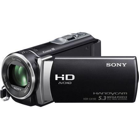"Sony HDR-CX190E Full HD - PAL - Camcorder, 5.3 Megapixel, 25x Optical Zoom, 1920 x 1080/60p Recording, CMOS Sensor, 2.7"" LCD Screen, Black"