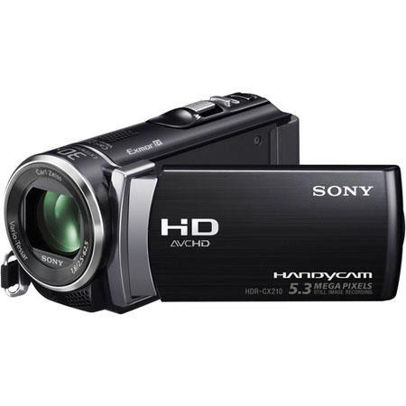 "Sony HDR-CX210E Full HD - PAL - Camcorder, 8GB Flash Memory, 25x Optical Zoom, 1920x1080/60p Recording, 2.7"" LCD Touch Screen, 1x CMOS Sensor, Black"