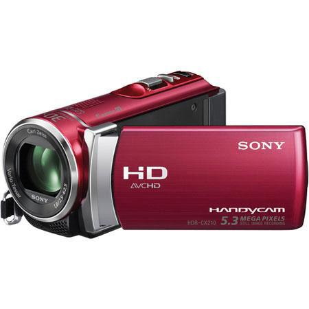 "Sony HDR-CX210E Full HD - PAL - Camcorder, 8GB Flash Memory, 25x Optical Zoom, 1920x1080/60p Recording, 2.7"" LCD Touch Screen, 1x CMOS Sensor, Red"