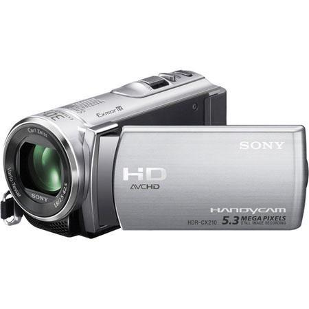 "Sony HDR-CX210E Full HD - PAL - Camcorder, 8GB Flash Memory, 25x Optical Zoom, 1920x1080/60p Recording, 2.7"" LCD Touch Screen, 1x CMOS Sensor, Silver"