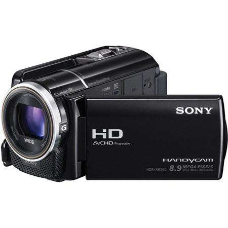"Sony HDR-XR260VE HD ""PAL"" Camcorder, 160GB Flash Memory Camcorder, Exmor CMOS Sensors, 8.9 Megapixels Resolution, 350x Digital/30x Optical Zoom, 3.0&q"