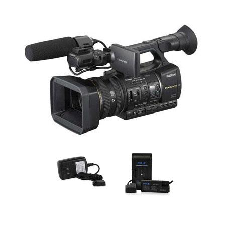 Sony HXR-NX5U NXCAM Digital HD Video Camcorder, 3.2 LCD - Bundle - with Switronix Powerbase 70 70Wh Battery Pack, and Switronix Power Tap Charger