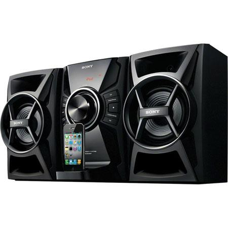 Sony MHC-EC609iP Mini Hi-Fi Stereo System with CD, iPhone/iPod Dock, 100 W Total Power