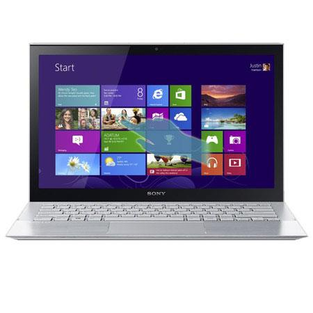 "Sony VAIO Pro 13 13.3"" Touchscreen Full HD Ultrabook Notebook Computer, Intel Core i5-4200U 1.6GHz, 4GB RAM, 128GB SSD, Windows 8 Home Premium, Silver"