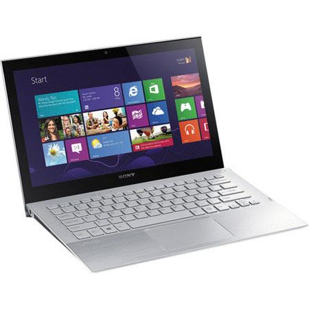 "Sony VAIO Pro 13 13.3"" Touchscreen Full HD Ultrabook Notebook Computer, Intel Core i7-4500U 1.8GHz, 8GB RAM, 256GB SSD, Windows 8 Pro 64-bit, Silver"