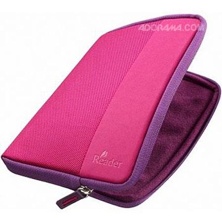 Sony Soft Zipper Case for PRS-350 & 650 eBooks, Pink image