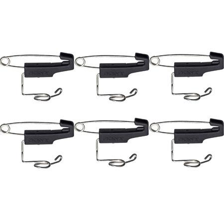 Sony SAD-S77 Safety-Pin Type Clip for ECM-77 Microphone, 6 Pack